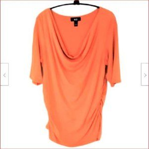 AGB Women's Size Large Stretchy SS Poly Pullover